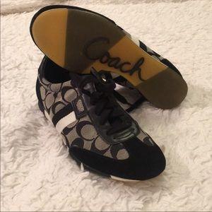 Coach women's tennis shoes never worn